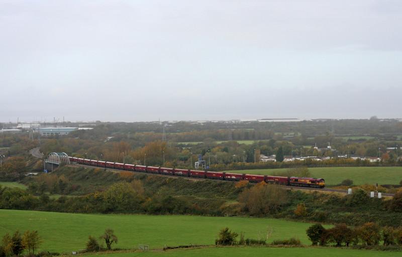 66142, 09.24 Avonmouth Bulk Handling Terminal-Aberthaw Power Station, Hallen Marsh, Bristol, 1-11-11.