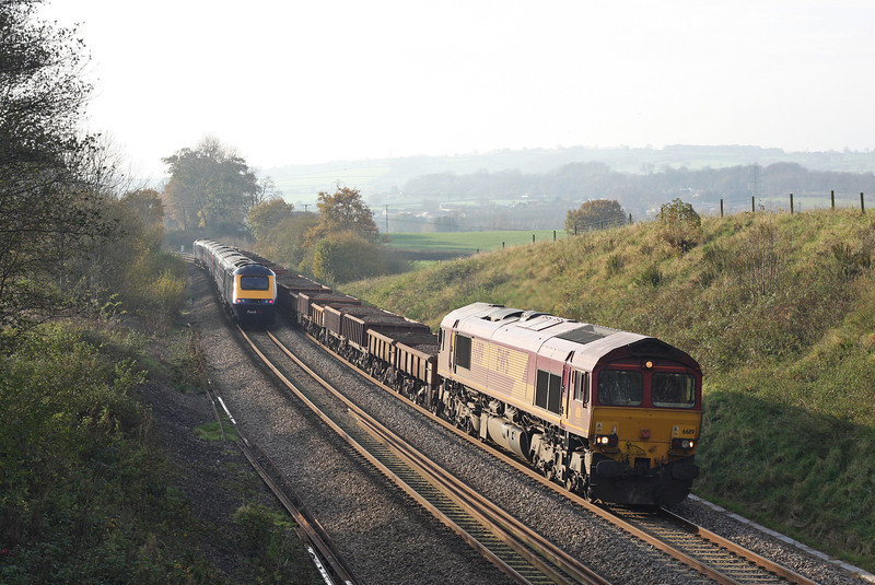 66119, late-running 12.30 Exeter St David's-Westbury, Whiteball, 20-11-11; HST, 11.00 Paddington-Paignton.