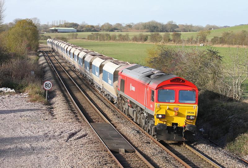 59206, 10.37 Whatley-St Pancras, Crofton, 25-11-11.