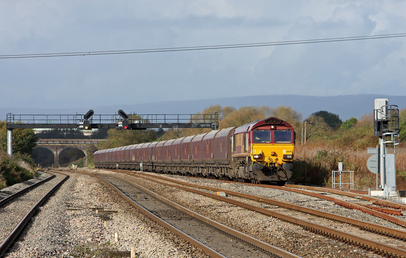 66145, 08.29 Aberthaw Power Station-Portbury, Pilning, 1-11-11.