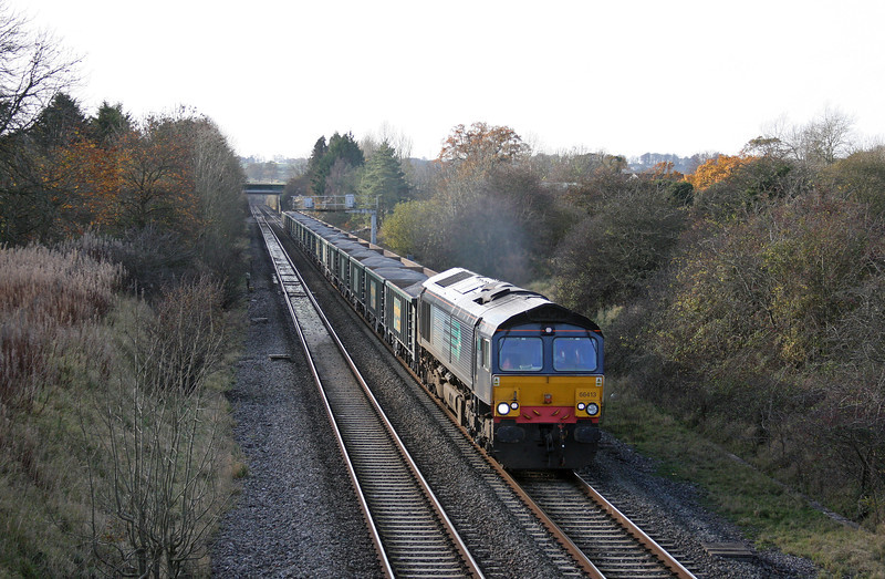 66413, 13.14 Avonmouth Bennett's Siding-Didcot, Acton Turville, near Badminton, 17-11-11.