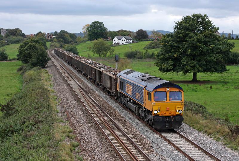 66711, 16.24 Exeter Alphington Road-Newport Docks, Rewe, near Exeter, 4-10-11.