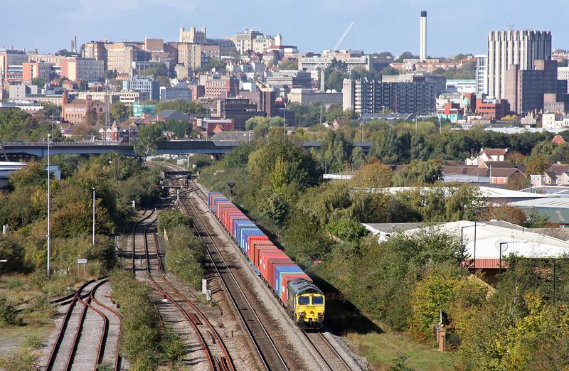 66503, 11.00 Bristol Freightliner Terminal-Thamesport, St Anne's, Bristol, 18-10-11.
