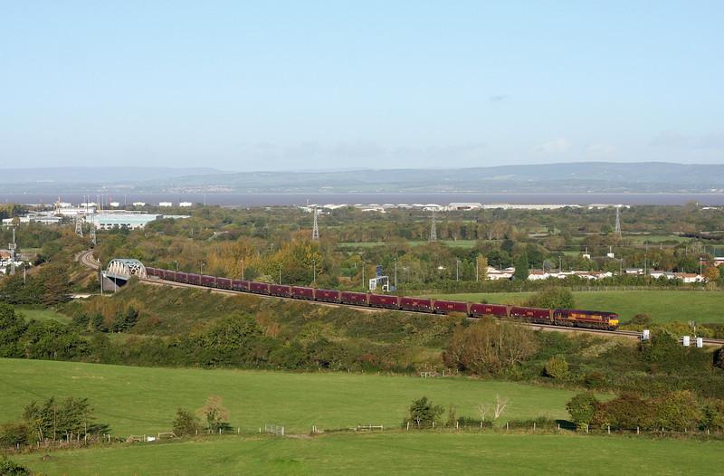 66204, 09.24 Avonmouth Bulk Handing Terminal-Aberthaw Power Station, Hallen Marsh, Bristol,18-10-11.