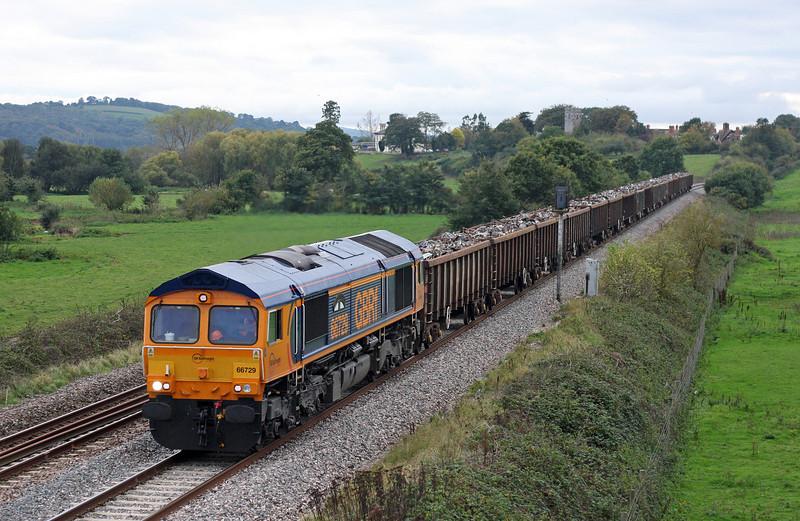66729, 16.24 Exeter Alphington Road-Newport Docks, Rewe, near Exeter, 13-10-11.