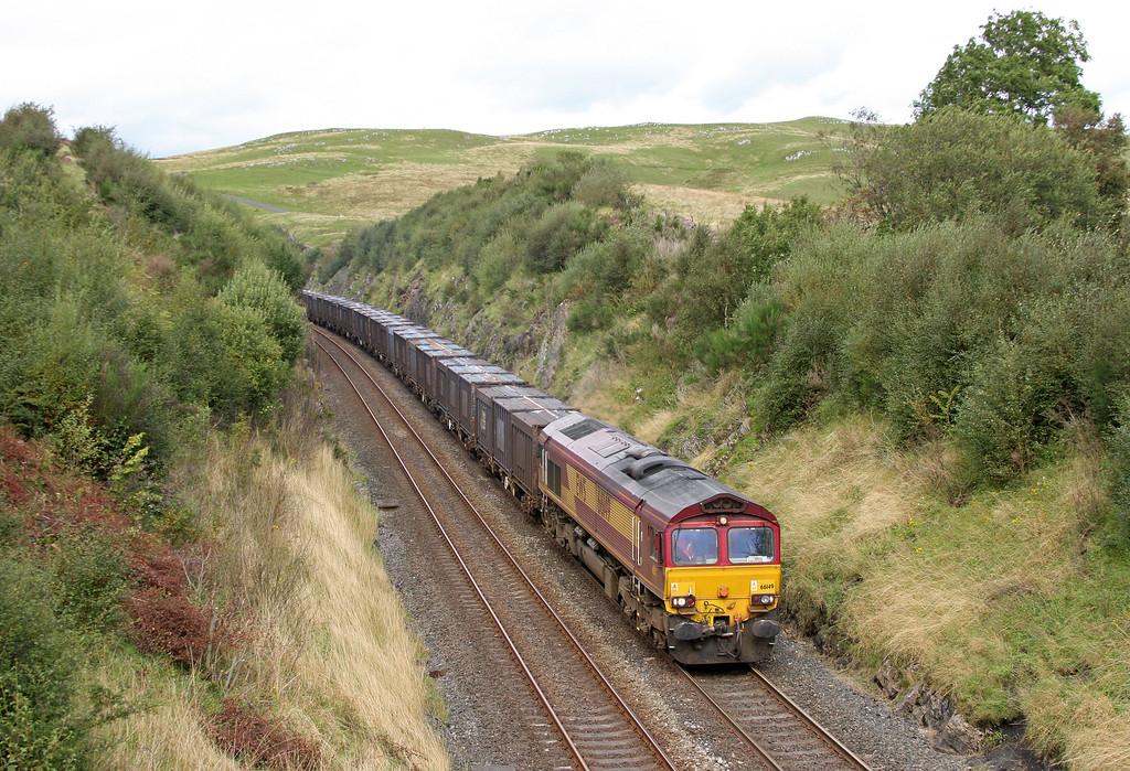 66149, 12.40 Newbiggin-Warrington Arpley Yard, south of Birkett Tunnel, near Kirkby Stephen, 14-9-11,