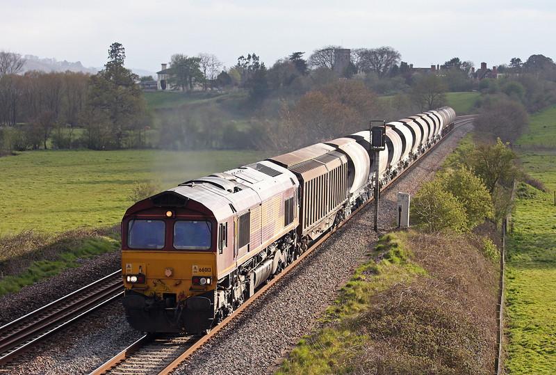 66013, 16.13 St Blazey-Newport Alexandra Dock Junction, Rewe, near Exeter, 19-4-12.