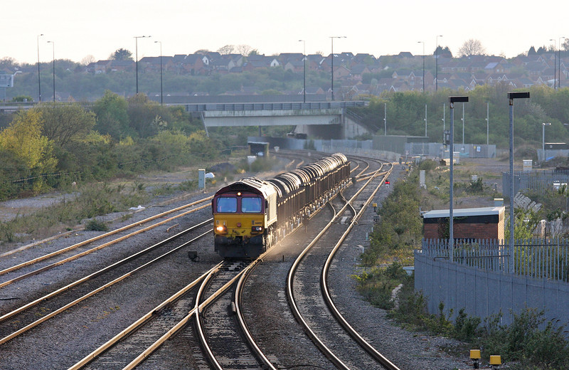 66100, 16.23 Margam-Hartlepool, Severn Tunnel Junction, 24-4-12.