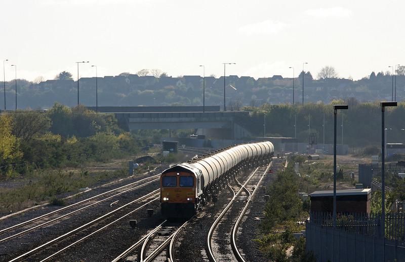 66729, 17.17 Cardiff Docks-Peterborough, Severn Tunnel Junction, 24-4-12.