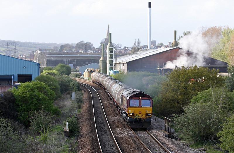 66141, 15.31 Bristol St Philip's Marsh-Plymouth Tavistock Junction Yard, Marsh Barton, Exeter, 17-4-12.
