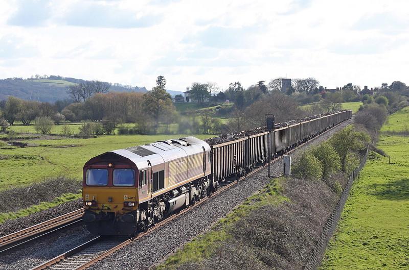 66172, 17.18 Exeter Alphington Road-Cardiff Tidal, Rewe, near Exeter, 12-4-12.