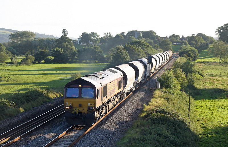 66177, 16.13 St Blazey-Newport Alexandra Dock Junction, Rewe, near Exeter, 30-8-12.