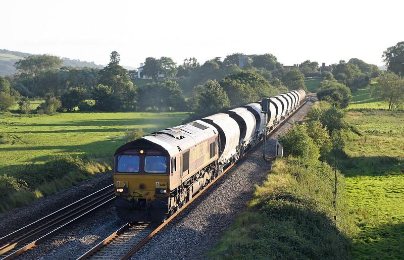 66177, 16.13 St Blazey-Newport Alexandra Dock Junction, Rewe, near Exeter, 30-8-12.