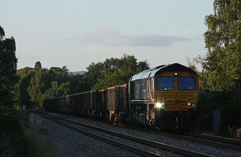 66727, 15.24 Handsworth-Newport Docks, Bullo Pill, near Newnham, Gloucestershire, 20-8-12.