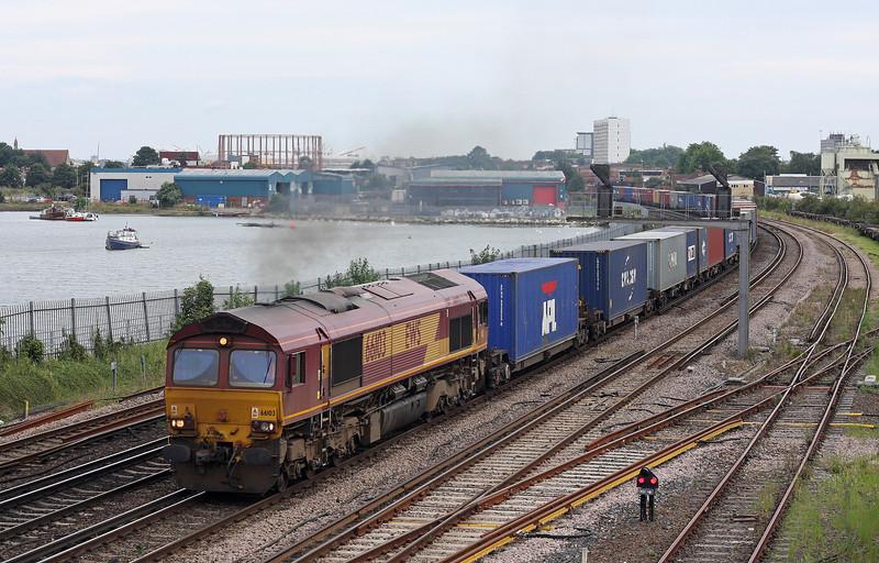 66103, 16.40 Southampton Western Docks-Wakefield Europort, St Denys, Southampton, 23-8-12.
