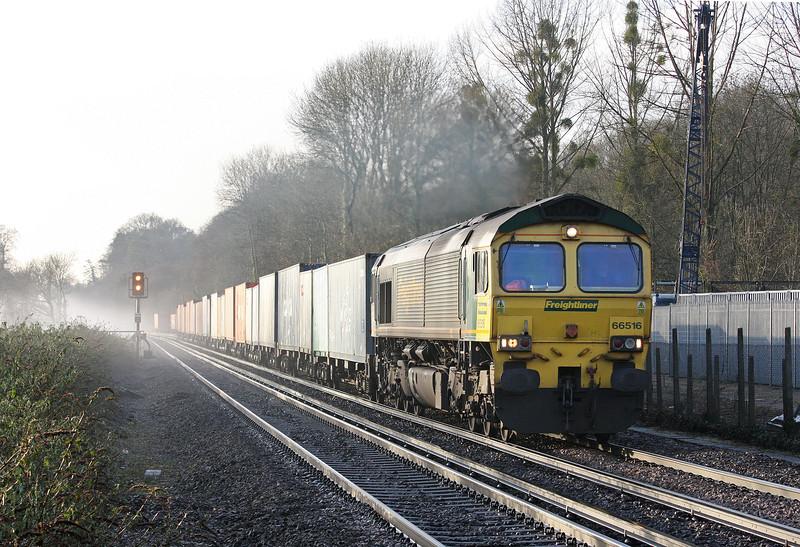 66516, 0854 Southampton-Birmingham Lawley Street, Shawford, near Winchester, 17-12-12.