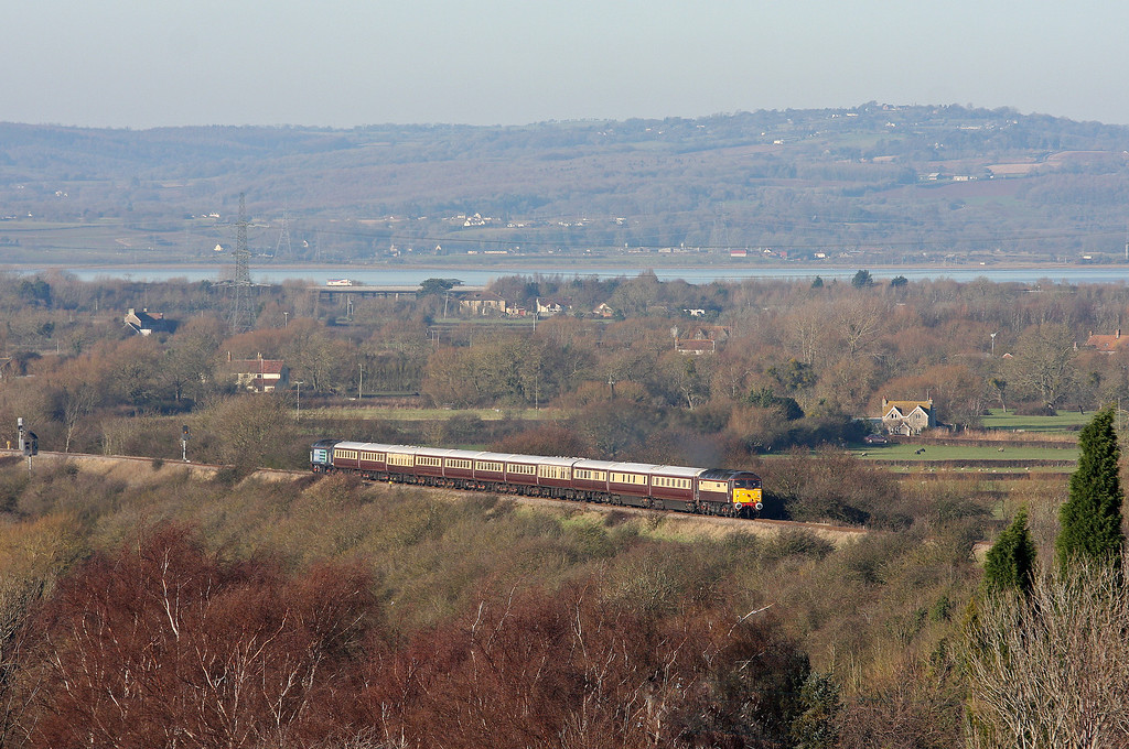 47832/47501, top'n'tail 11.11 Cardiff Central-Newton Abbot, Northern Belle, Pilning, 18-12-12.