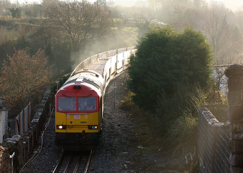 60054, 03.05 Warrington Arpley-Portbury Docks, Pill, near Portbury, 18-12-12.