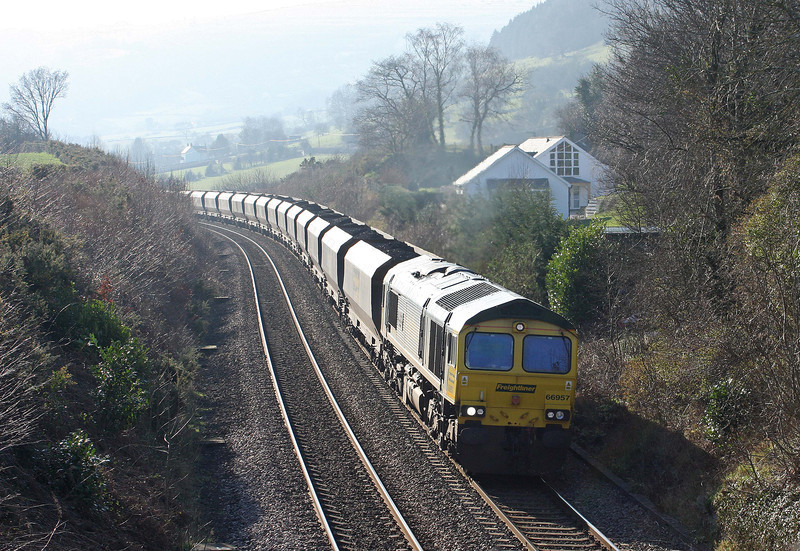 66957, 10.50 Portbury-Rugeley Power Station, Llanvihangel Crucorney, near Abergavenny, 1-2-12.