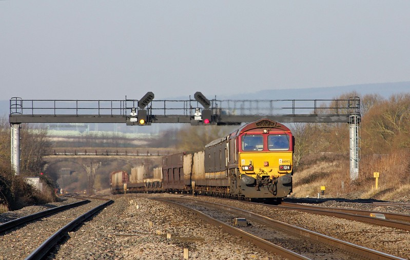 66082, 03.05 Warrington Arpley-Portbury, Pilning, 2-2-12. Late.