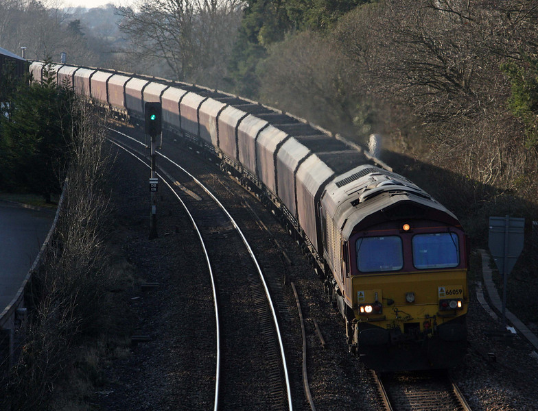 66059, 14.22 Avonmouth Bulk Handling Terminal-Didcot Power Station, Coalpit Heath, near Bristol, 2-2-12.