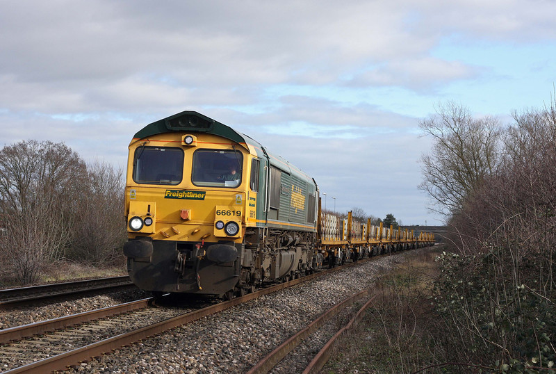 66619, 11.22 Oxford Hinksey Yard-Taunton Fairwater Yard, Bathpool, Taunton, 15-2-12.