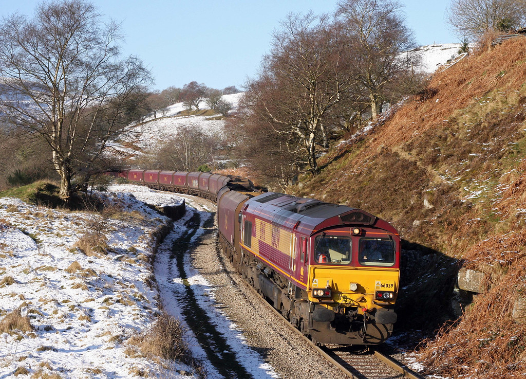 66039, 14.00 Cwmbargoed Opencast Mine-Aberthaw Power Station, Bedlinog, near Merthyr Tydfil, 1-2-12.