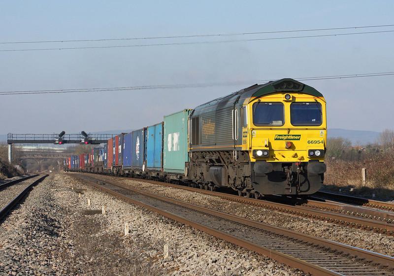 66954, 09.58 Cardiff Wentloog-Southampton Millbrook, Pilning, 2-2-12.