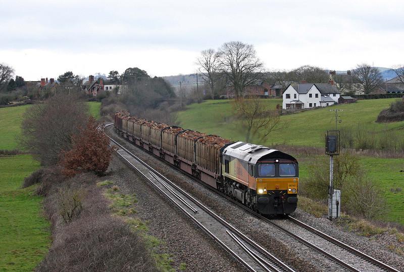 66745, 14.41 Teigngrace-Chirk Kronospan, Rewe, near Exeter, 22-2-12.