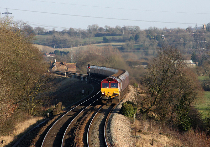 66069, 13.22 Didcot Power Station-Avonmouth Bulk Handling Terminal, Coalpit Heath, near Bristol, 2-2-12.