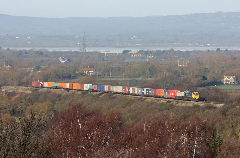 66562, 09.58 Cardiff Wentloog-Southampton Millbrook, Pilning 13-1-12.