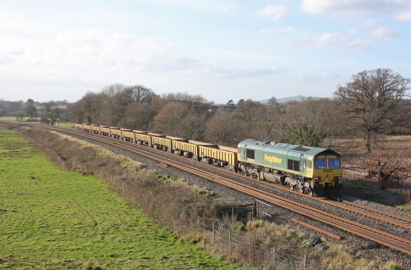 66511, 14.08 Exeter Riverside Yard-Westbury Yard, Ellerhayes, Silverton, 15-1-12.