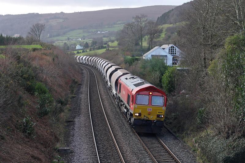 66097, 04.00 Exeter Riverside Yard-Bescot Yard, Llanvihangel Crucorney, near Abergavenny, 7-1-12.