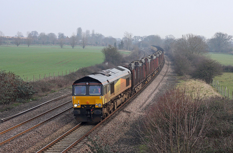66850, 08.38 Gloucester New Yard-Teigngrace, Creech St Michael, near Taunton, 31-1-12.