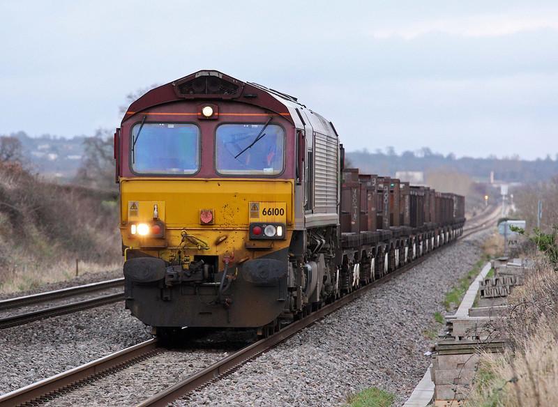 66100, 10.18 Corby-Margam, Woolaston, near Lydney, 23-1-12.