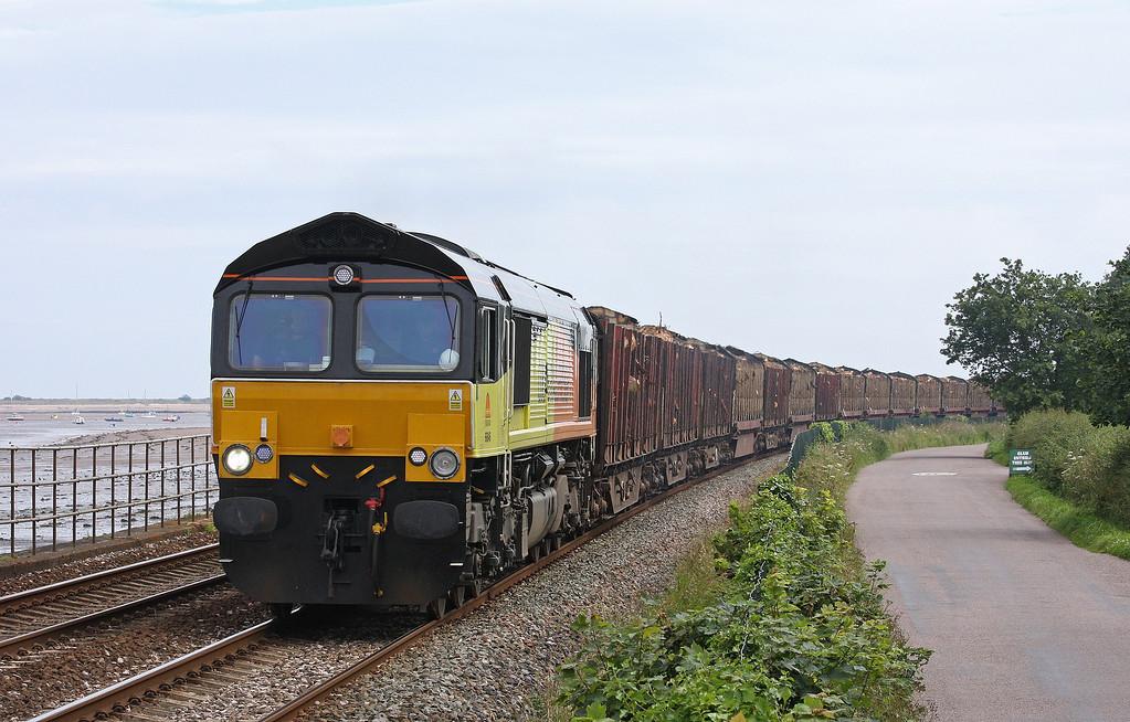 66846, 14.41 Teigngrace-Carlisle Yard, Powderham, near Starcross, 5-7-12.