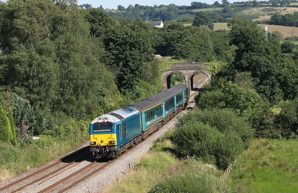 67003, 16.15 Cardiff Central-Holyhead, Ponthir, near Newport, 23-7-12.