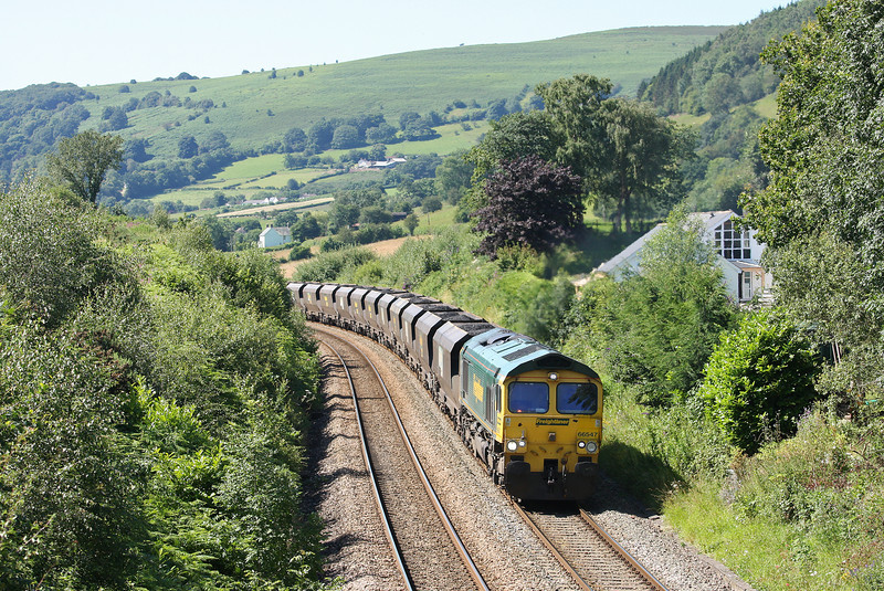 66547, 08.25 Portbury-Fiddlers Ferry Power Station, Llanvihangel Crucorney, near Abergavenny, 23-7-12.