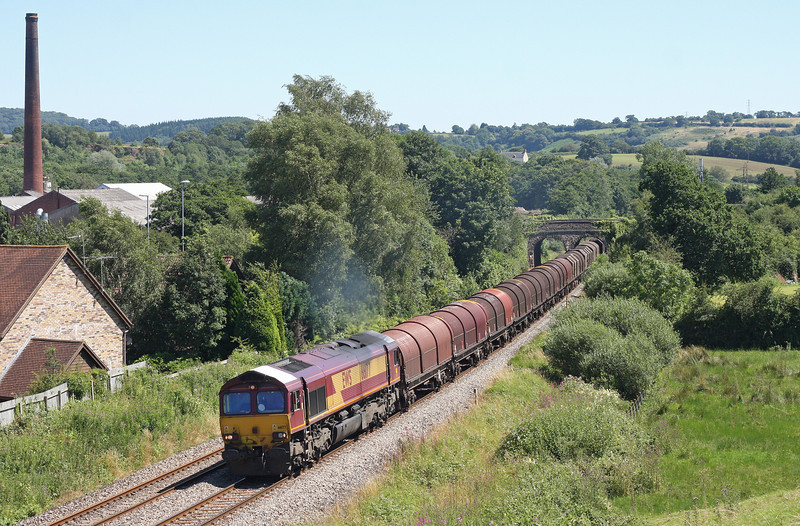 66177, 09.23 Margam-Dee Marsh, Ponthir, near Newport, 23-7-12.