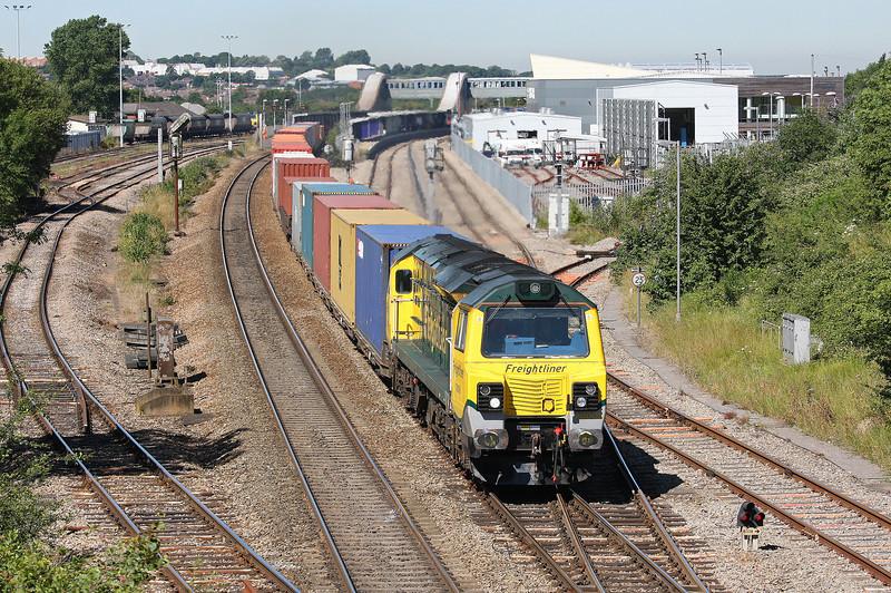 70008, 09.58 Cardiff Wentloog-Southampton Millbrook, Bristol Parkway, 24-7-12.