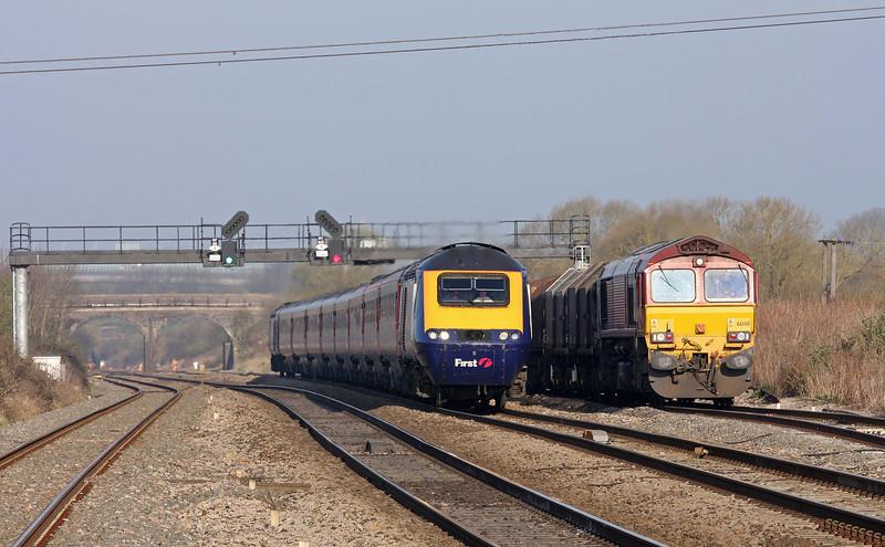 66148, 08.18 Llanwern-Swindon Steel Terminal, Pilning, 27-3-12.
