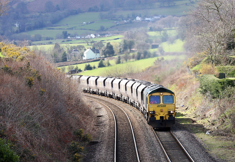 66520, 08.25 Portbury-Rugeley Power Station, Llanvihangel Crucorney, near Abergavenny, 19-3-12.