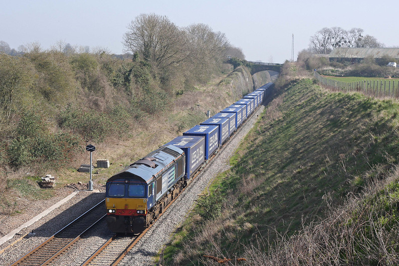 66301, 08.22 Daventry-Cardiff Wentloog, Wye Valley Junction, Chepstow, 27-3-12.