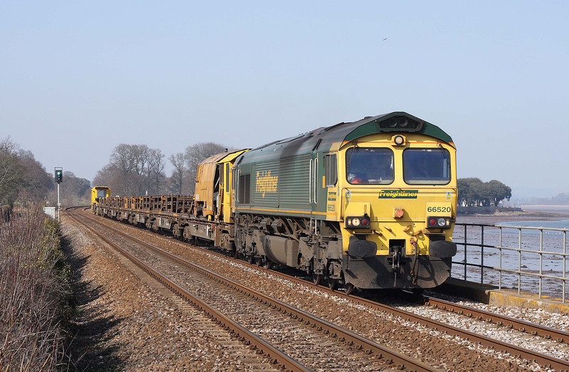 66520, 13.30 Westbury Yard-Newton Abbot Hackney Yard, Powderham, near Starcross, 26-3-12.