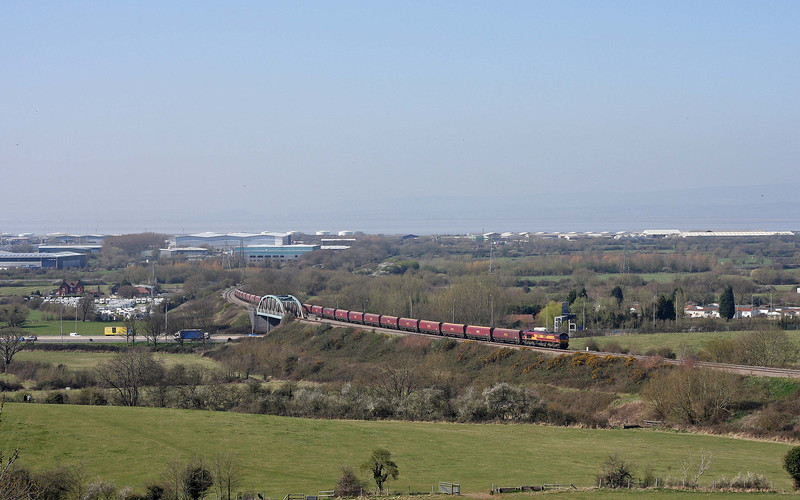 66057, 14.22 Avonmouth Bulk Handling Terminal-Didcot Power Station, Hallen Marsh, Bristol, 27-3-12.