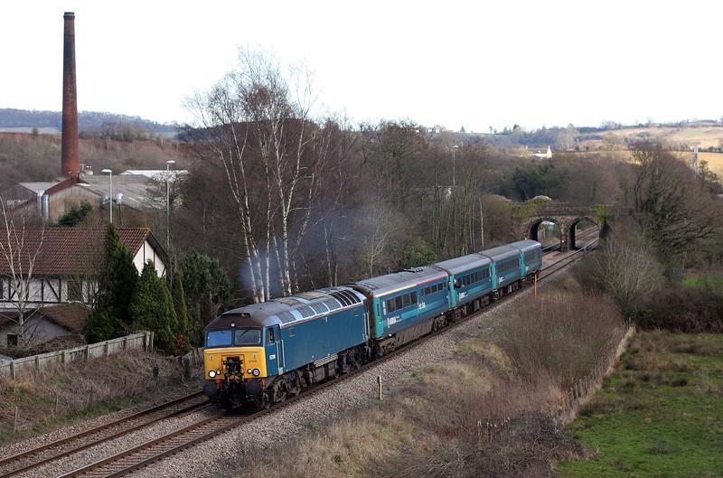 57316, 16.15 Cardiff Central-Holyhead, Ponthir, near Newport, 19-3-12.