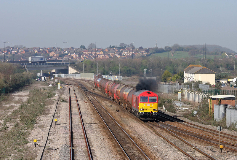 60007, 05.05 Robeston-Westerleigh, Severn Tunnel Junction, 29-3-12.