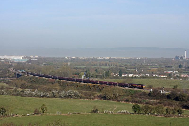 66057, 09.24 Avonmouth Bulk Handling Terminal-Aberthaw Power Station, Hallen Marsh, Bristol, 29-3-12.