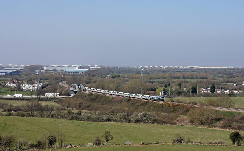 59005, 13.25 Avonmouth Bennett's Siding-Westbury Yard, Hallen Marsh, Bristol, 27-3-12.