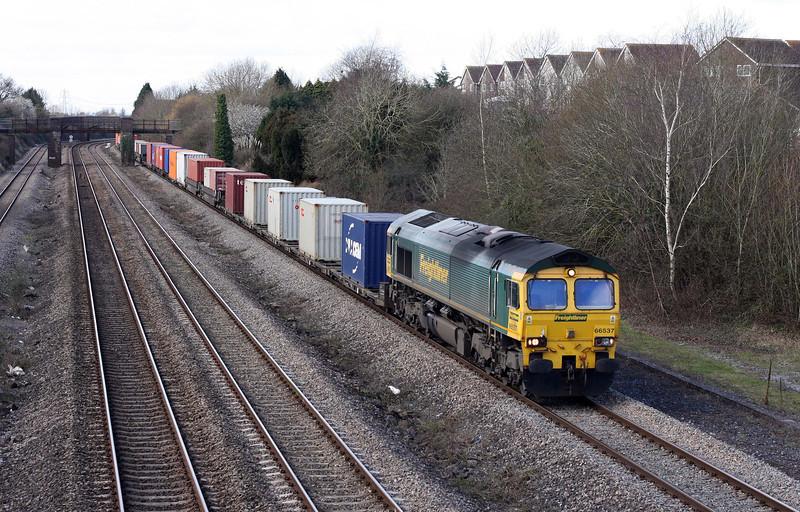 66537, 09.58 Cardiff Wentloog-Southampton Millbrook, Undy, 5-3-12.